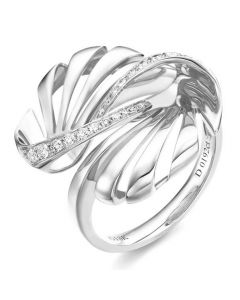 Bague femme. Or blanc & Diamants | Neptune
