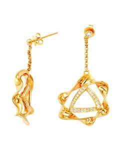 Orecchini - Oro giallo 7.64gr - Diamanti 0.570ct
