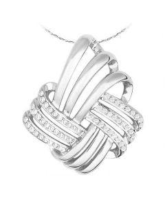 Ciondolo - Oro bianco 3.43gr - Diamanti 0.160ct