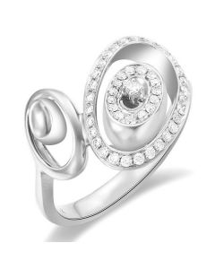 Bague Love - Bague moderne en or blanc - 45 Diamants de 0.283ct