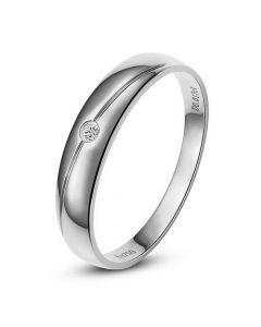 Alliance Femme. Or blanc. Diamant 0.015ct | Coralis