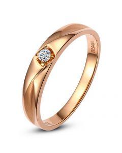 Alliance Diamant Tracy or rose - Bague pour Lui