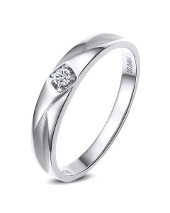 Alliance diamant or blanc - Alliance pour Elle