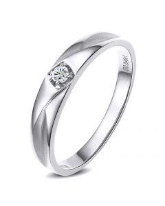 Alliance diamant platine - Alliance pour Elle
