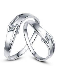 Alliances diamants platine - Alliances Couple