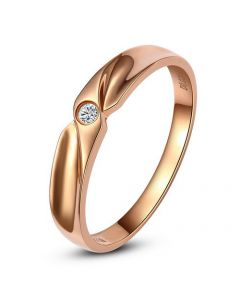 Alliance originale or rose - Alliance Homme - Diamant