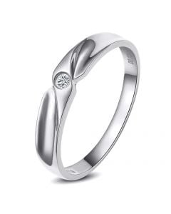 Alliance originale platine - Alliance Homme - Diamant