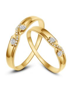 Fedi Nuziali Hortense & Noé - Oro Giallo e Diamanti
