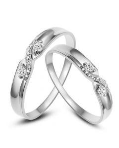 Alliances mariage diamants - En Platine - Pour homme et femme | Monika & Cosmo platine
