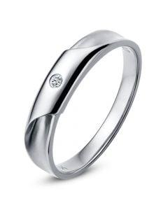 Alliance Homme - Platine - Diamant 0.045ct   Lucas