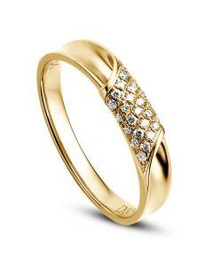 Alliance Femme. Or jaune. Diamants 0.105ct   Lucile