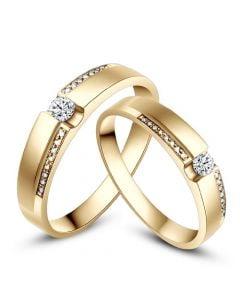 Fedi Nuziali Edna & Marley - Fedine in Oro Giallo e Diamanti