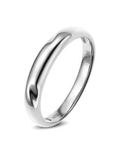 Alliance en or ronde - Alliance Homme Or blanc - Diamant