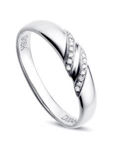 Alliance de Mariage Femme Inès - Or Blanc & Diamants | Gemperles