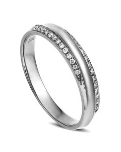 Alliance Femme. Platine. Diamants 0.11ct