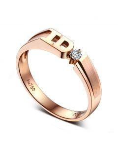 Alliance I DO - Alliance femme Or rose - Diamant