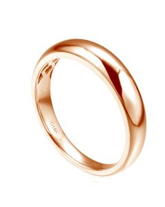 Alliance bombée Or rose 18 carats Messieurs. 1 diamant 0.010ct | Corey