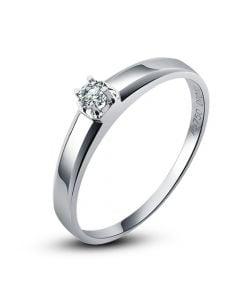 Alliance mariage originale - Alliance Femme - Platine - Diamant