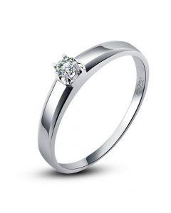 Alliance mariage originale - Alliance Homme - Or blanc - Diamant