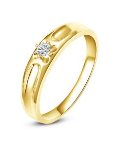 Alliance fleur d'or jaune et diamant - Alliance Homme | Cagney