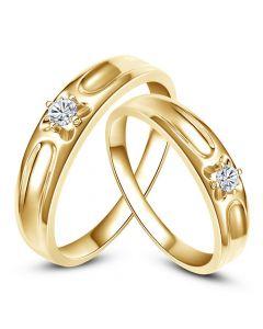 Alliances fleurs d'or jaune et diamants - Alliances Duo  Carenn & Cagney