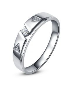Alliance diamants - Or blanc - Alliance Homme