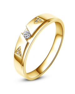 Alliance diamants - Or jaune - Alliance Homme