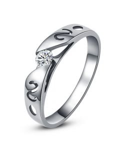 Mon alliance de mariage - Alliance originale or blanc, diamant - Homme