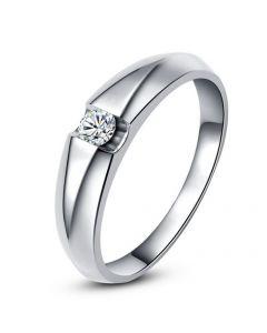Alliance solitaire platine - Bague alliance diamant pour Homme | Marquis