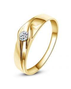Alliance de fiançaille - Alliance or jaune pour Homme - Diamant