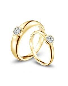 Alliances Couple. Or jaune. Diamants 0.60ct | Galina & Martens