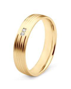 Alliance pour femme - Or jaune et diamants | Une vie avec toi
