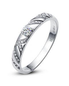 Bague Platine et Diamants pour femme | Toi et moi