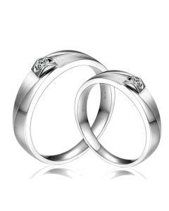 Alliances diamants or blanc - Alliances Couple | Giuliana & Renzo
