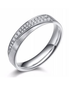 Alliance Sillage Amoureux Femme - Platine, Diamants | Gemperles