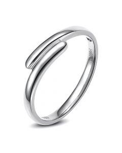 Alliance de mariage Femme. Or blanc. Diamant   Angèle