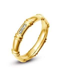Alliance en or jaune 18 carats - Alliance diamants pour Femme | Hortense