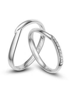Alliances  diamants - Duo d'alliances-platine
