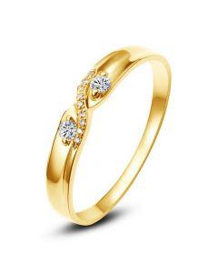 Alliance de mariage. En or jaune, diamants - Pour Homme | Noé