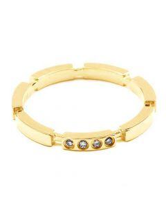 Alliance Anneau de Mariage - Alliance Femme Or Jaune et Diamants | Gemperles