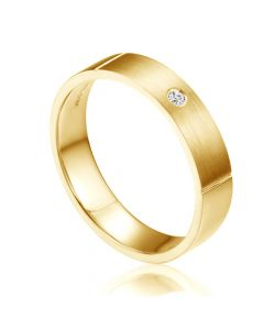 Alliance Or Jaune Ramone - Alliance de Fiançaille en Diamant - Homme | Gemperles