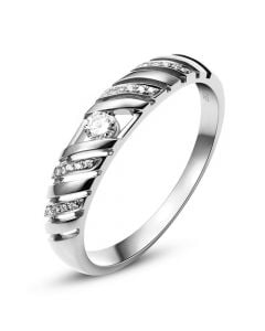 Alliance Femme. Platine. Diamants 0.089ct | Ricarda
