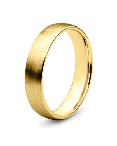 Alliance diamant or jaune - Lignes pures - Homme