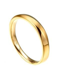 Alliance moderne Homme en Or jaune et Diamant   Emiliano