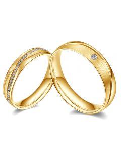 Fedi Nuziali Étreinte Infinie - Oro Giallo 18kt e Diamanti