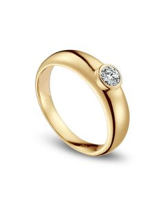 Alliance Homme. Or jaune. Diamant 0.30ct | Martens