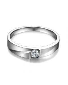 Alliance diamant sertissage demi clos - Métal platine - Homme