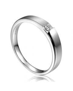 Alliance de fiançaille 2020 - Alliance pour Homme - Or blanc, diamant