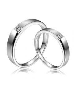 Alliances de fiançailles 2020 - Alliances Duo - Or blanc, diamants