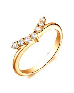 Bague Femme Freedom - Or Jaune, Diamants - Ailes de Colombe | Gemperles